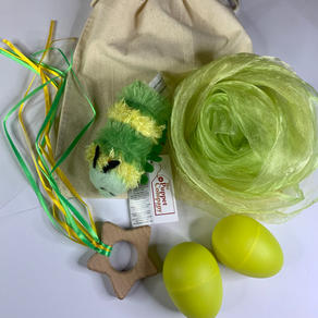 Green Caterpillar Teether Bag  £12.99