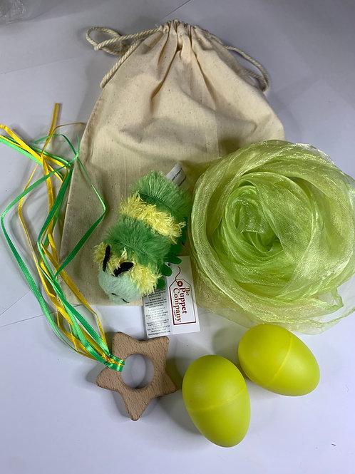 Baby Boo Sensory Bag Caterpillar yellow