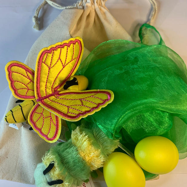 Caterpillar and Butterfly Story Bag Green £12.99