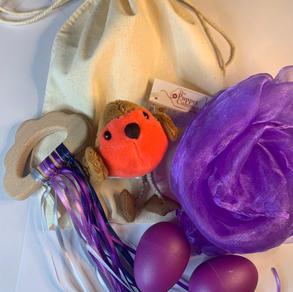 Puppet compony Robin finger puppet, Purple Cloud