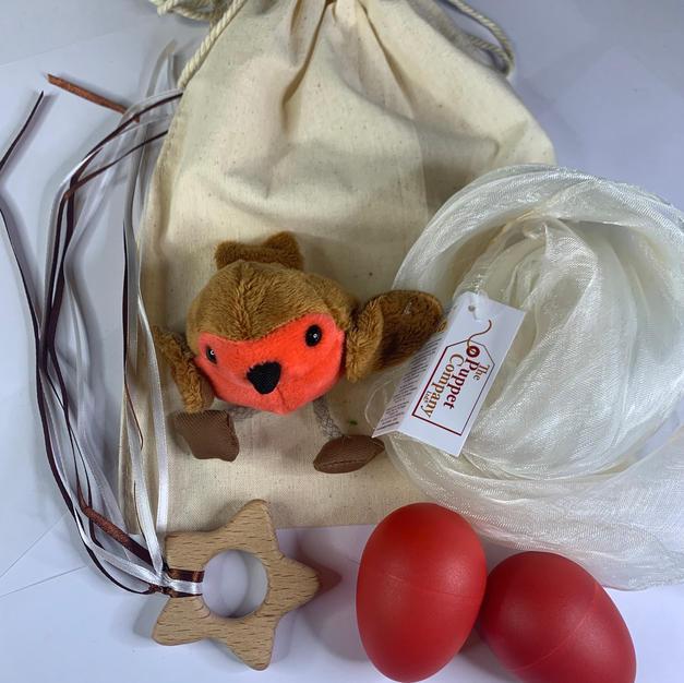 White Robin Teether Bag  £12.99