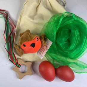 Green/red  Robin Teether Bag  £12.99