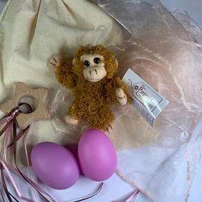 Pink Monkey Teether Bag  £12.99