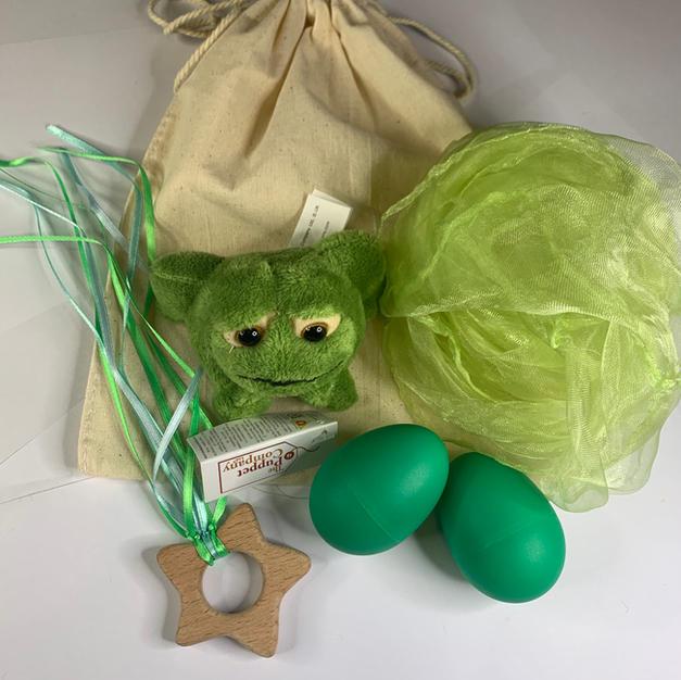 Green Frog Teether Bag  £12.99