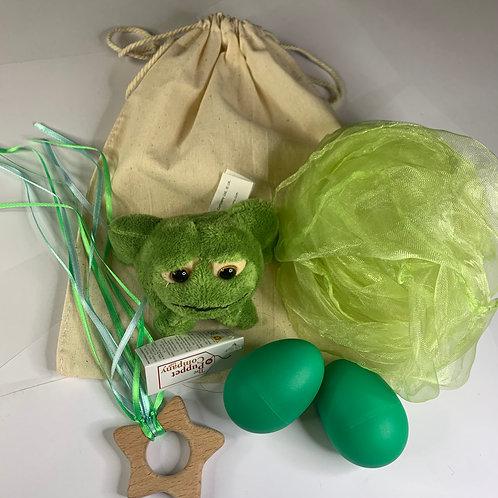 Baby Boo Sensory Bag frog Green