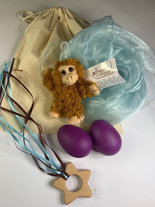 Baby Boo Sensory Bag Monkey Blue