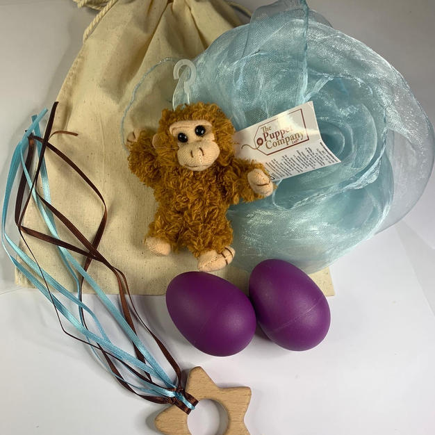 Blue Monkey Teether Bag  £12.99