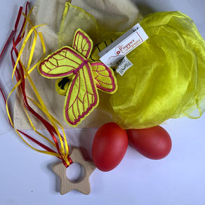 Yellow Butterfly Teether bag  £12.99