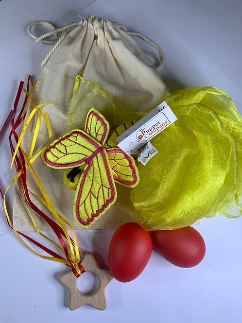 Baby Boo Sensory Bag Butterfly red