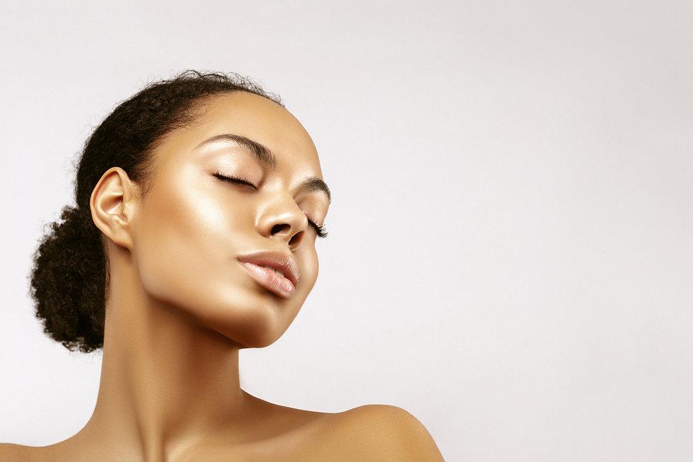 African American skincare models portrai