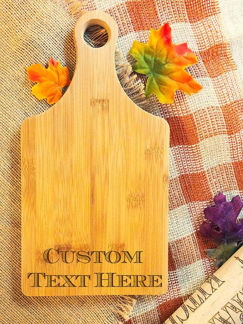 Bamboo Paddle Shape Cutting Board
