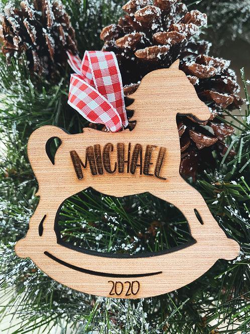Wood Ornament - Rocking Horse