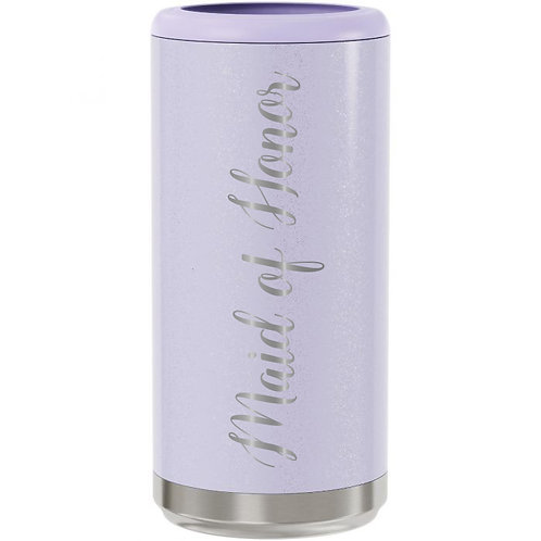 Skinny Can Cooler - Glitter Lilac