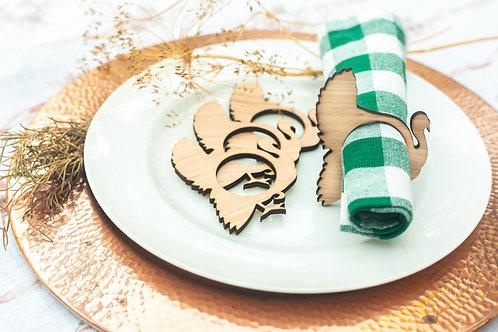 Wood Thanksgiving Napkin Ring