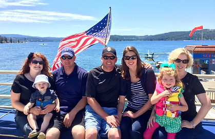 Paul Amador with his extended family on Lake Coeur d'Alene.
