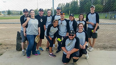 Paul Amador with recreational softball team.
