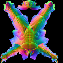 Ecorche Normal Map