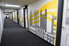 Atlanta Skyline Mural