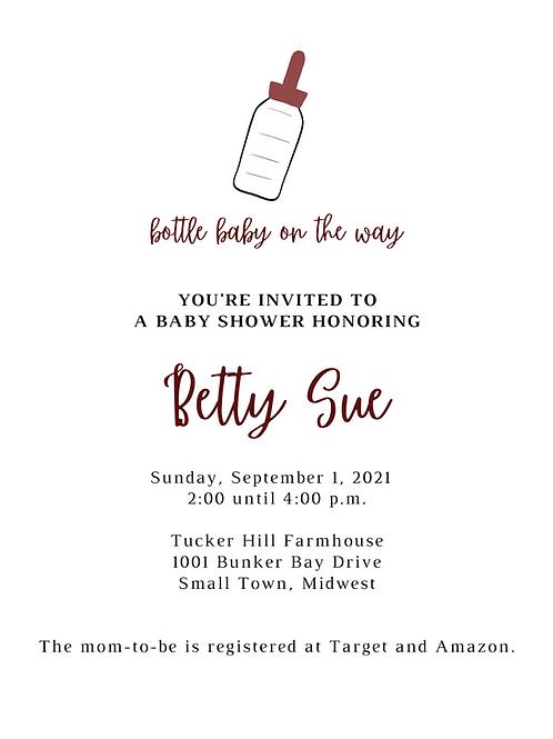 Custom Party Invite