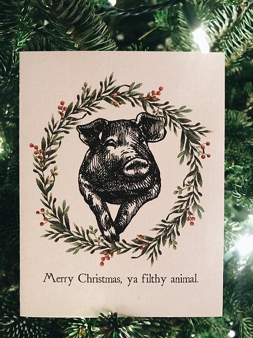 Merry Christmas, ya filthy animal.-wholesale