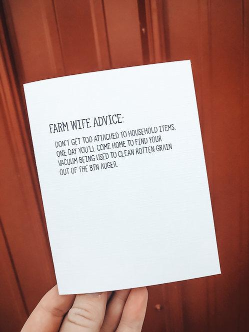 farm wife advice-household items