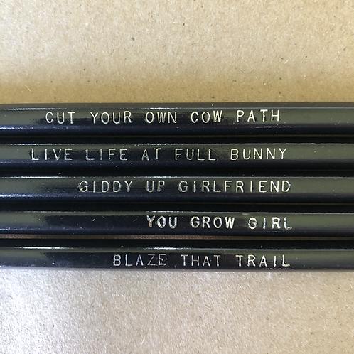 Motivational Pencil Set