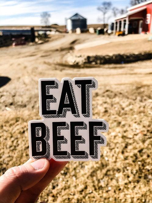 EAT BEEF Sticker-wholesale