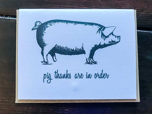 pig thanks are in order-wholesale