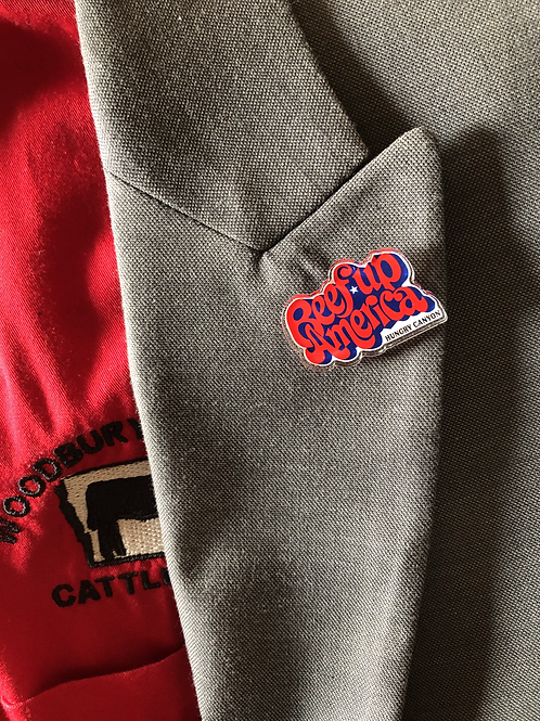 Beef up America Lapel Pin