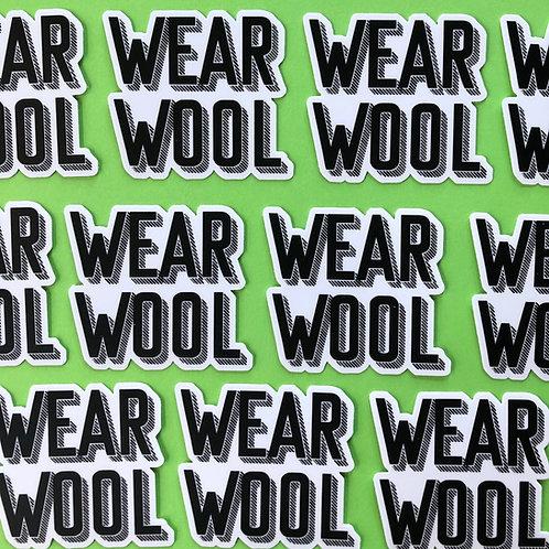 WEAR WOOL Sticker