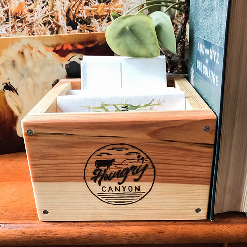 Handcrafted Heirloom Box + Card Set