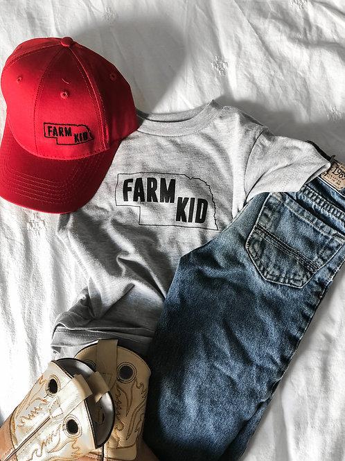 Nebraska Farm Kid Graphic T