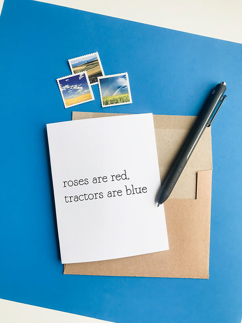 roses are red, tractors are blue-wholesale