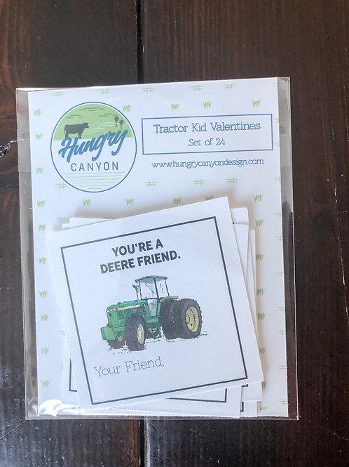 Tractor Kid Valentines