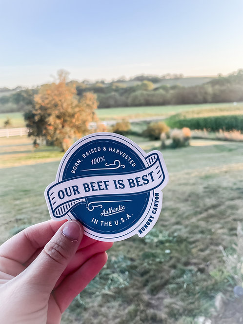 Our beef is best Sticker-wholesale
