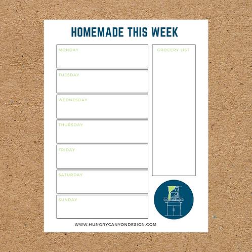 Homemade this week Notepad