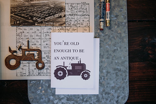 old enough to be an antique