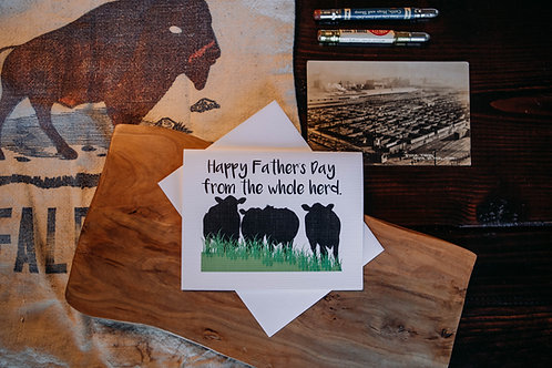 happy father's day from the whole herd