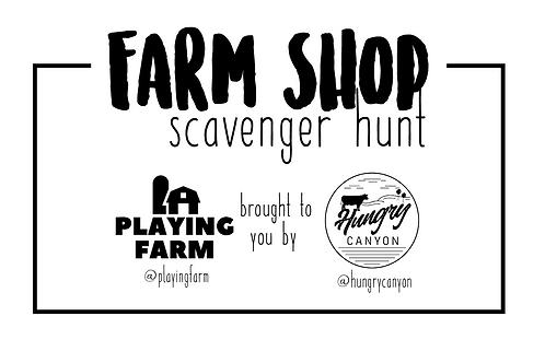 Farm Shop Scavenger Hunt Printable