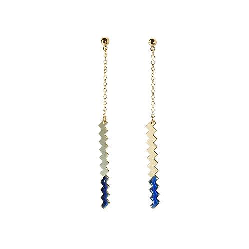 Boucles d'oreilles ZIG [bleu]