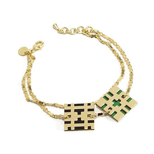 Bracelet BITMAP_DOUBLE [P_noir et vert]