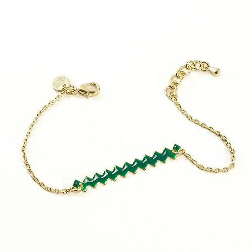 Bracelet ZIG [vert]