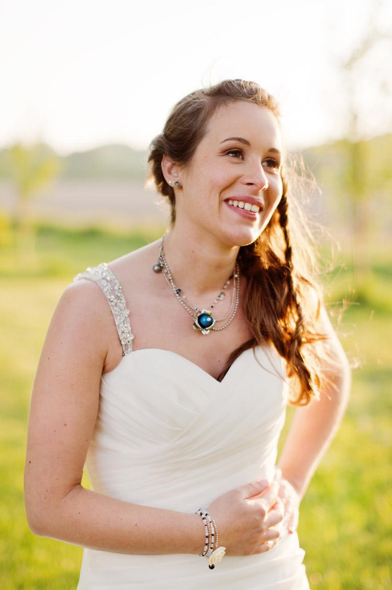 collier mariée bleu, perle bleu