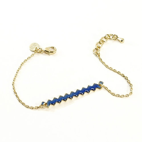 Bracelet ZIG [bleu]