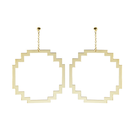 Boucles d'oreilles BITMAP_ROND [XL]
