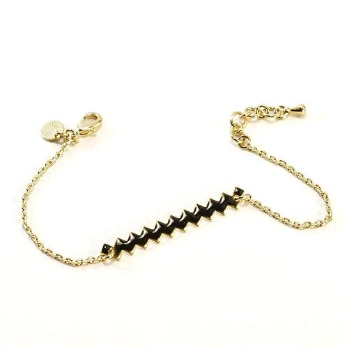Bracelet ZIG [noir]
