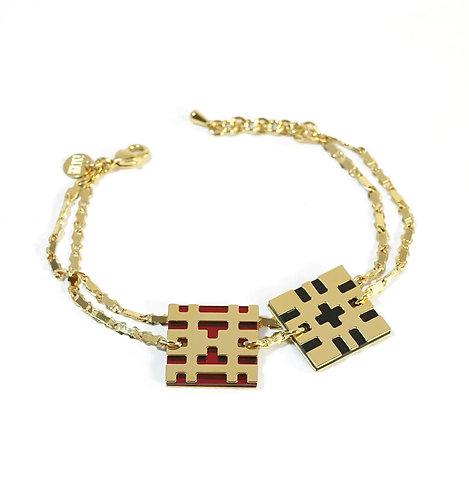 Bracelet BITMAP_DOUBLE [P_noir et rouge]