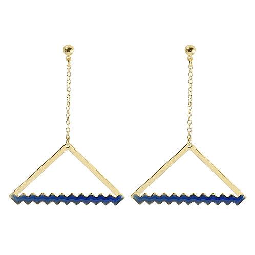 Boucles d'oreilles ZIG_TRIANGLE [ bleu ]
