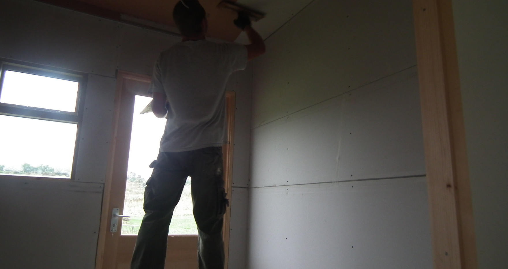 Working on one of the bedrooms