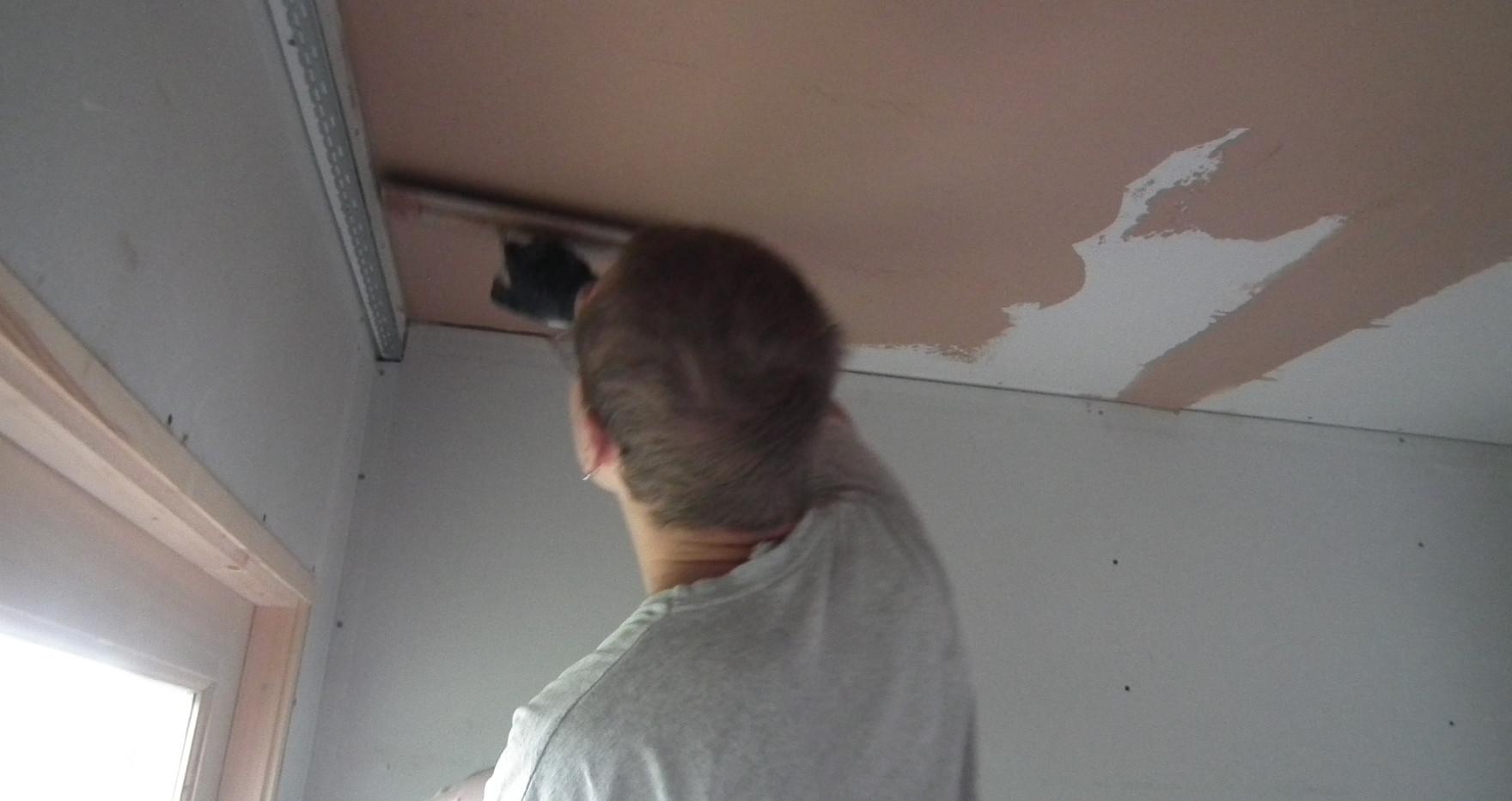 Starting to plaster